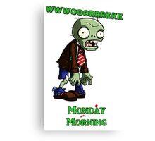 Work zombie  Canvas Print
