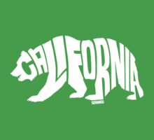 California Grizzly Flag White One Piece - Short Sleeve