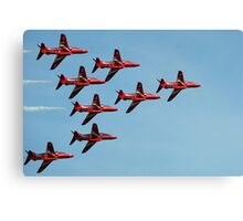 The Red Arrows 10 Canvas Print