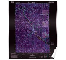 USGS Topo Map Washington State WA Cliffdell 240579 2000 24000 Inverted Poster