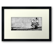 Concept for a solar powered sculpture Framed Print