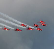 The Red Arrows 17 by Tony Steel