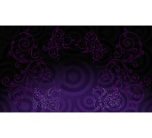 Curcles Purple Photographic Print