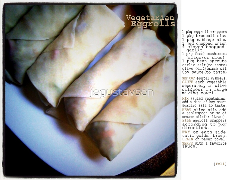 Vegetarian Egg Rolls by jegustavsen