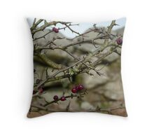 Moorland Christmas Red Berries......Bodmin Moor, Cornwall. Throw Pillow
