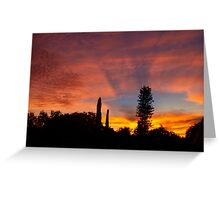 Neighborhood in silhouette Greeting Card