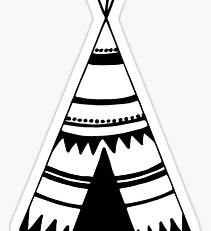Teepee art, teepee tent Sticker