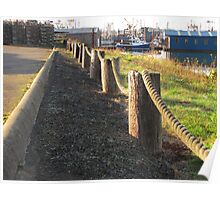Rope Fence......Newport Bay, Oregon Poster