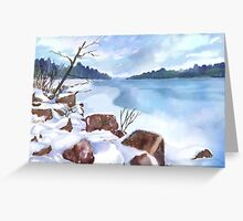 Icing Over  Greeting Card