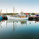 Lakes Entrance Boats, Gippsland, Victoria, Australia by Michael Boniwell
