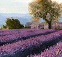 French Countryside - Lavander by Terry Hinkle