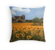 French Countryside - Sunflowers Throw Pillow
