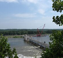Illinois River Lock and Dam by Gu88dek