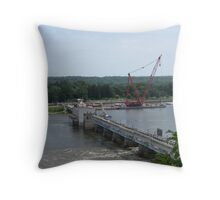 "The Barge ""Hercules"" Throw Pillow"