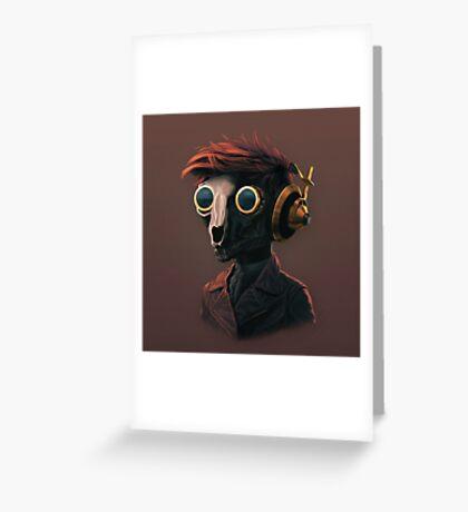 Techpunk Greeting Card