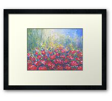 Geranium in my Garden Framed Print