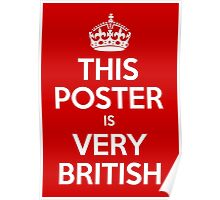 This is Very British Poster