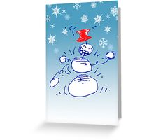 Boogie Snowman Cards Greeting Card