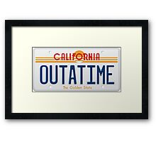 Back to the Future II Licence Plate Outatime Framed Print