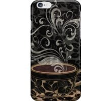 Cafe Noir I Coffee Damask iPhone Case/Skin