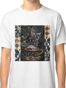 Cafe Noir I Coffee Damask Classic T-Shirt