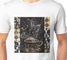 Cafe Noir I Coffee Damask Unisex T-Shirt