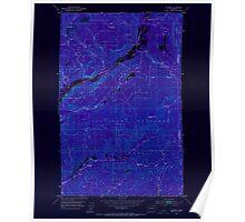 USGS Topo Map Washington State WA Aladdin 239770 1952 24000 Inverted Poster