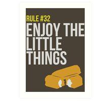 Zombie Survival Guide - Rule #32 - Enjoy the Little Things Art Print