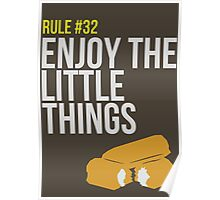 Zombie Survival Guide - Rule #32 - Enjoy the Little Things Poster