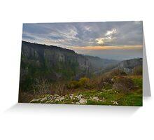 Somserset: Cheddar Gorge Greeting Card