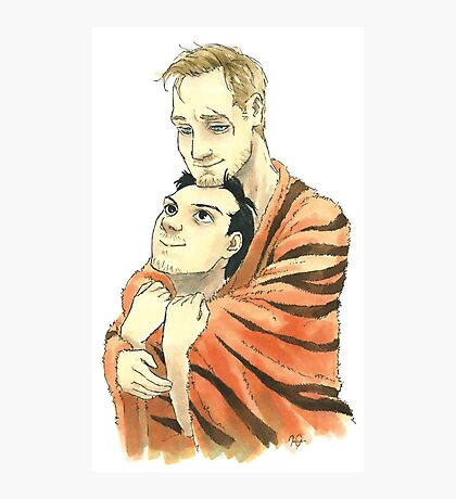 Tiger Blanket Fluff Photographic Print