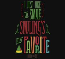 Buddy the Elf - Smiling's My Favorite! One Piece - Short Sleeve