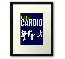 Zombie Survival Guide - Rule #1 Cardio Framed Print