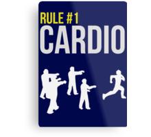 Zombie Survival Guide - Rule #1 Cardio Metal Print