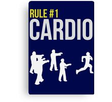 Zombie Survival Guide - Rule #1 Cardio Canvas Print