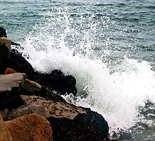 Crashing Waves by Donovan Olson