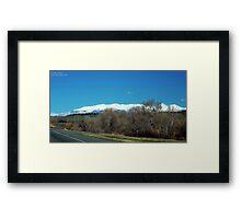 Highway over Bridger Creek (Bozeman, Montana) Framed Print