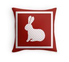 Eater rabbit Throw Pillow