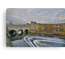 Somerset: Bath, Pulteney Bridge Canvas Print
