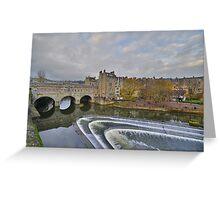Somerset: Bath, Pulteney Bridge Greeting Card