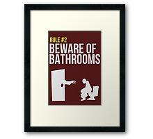 Zombie Survival Guide - Rule #2 - Beware of Bathrooms  Framed Print
