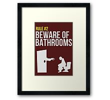 Zombie Survival Guide - Rule #2 - Beware of Bathrooms  Framed Print