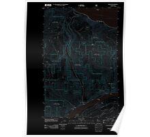 USGS Topo Map Washington State WA Winesap 20110606 TM Inverted Poster