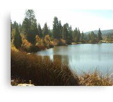 Grass Valley Lake In The San Bernardno Mountains Canvas Print
