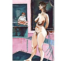 Joelle the Standing Nude among Artists Photographic Print