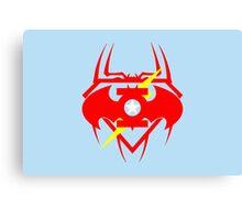Captain Green Bat Flash Super Spiderman Canvas Print
