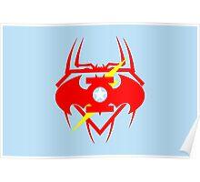 Captain Green Bat Flash Super Spiderman Poster