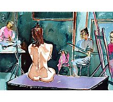 Drawing Nude Class Photographic Print