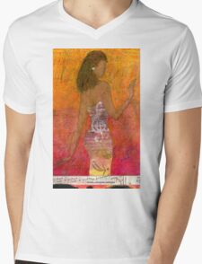 Dancing Lady T-Shirt Mens V-Neck T-Shirt
