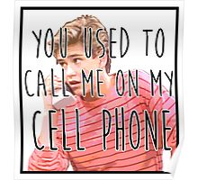 Zack Morris Cell Phone Poster